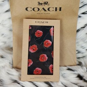 Coach iPhone 8 Plus Glitter Flower Cell Phone Case
